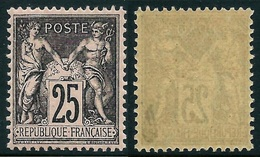 France N° 97 Neuf ** (MNH) Centrage Parfait - Signé Calves  Cote 240 Euros - Superbe Qualité - 1876-1898 Sage (Type II)