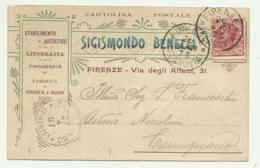 FIRENZE - STABILIMENTO ARTISTICO SIGISMONDO BENELLI 1907 -  FP - Firenze