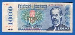 Tchécoslovaquie  1000 Korun  1985 - Tchécoslovaquie