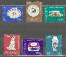 POLAND MNH ** 3093-3098 Bicentenaire De La Manufacture De Porcelainde CMIELOW - 1944-.... République