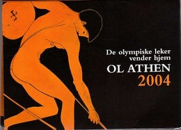 OLYMPIC GAMES Of ATHENS 2004. Folder Containing 2 Coins 1$ British Virgin Islands + 2€ From Greece - British Virgin Islands