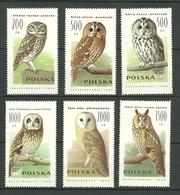 POLAND MNH ** 3099-3104 Faune Rapaces Nocturnes Rapace Oiseau Bird - 1944-.... République