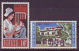 CYPRUS 223-224,unused,red Cross - Chypre (République)