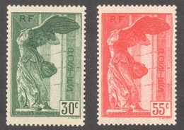 France SC#B66-67, Mint VF * LH / Yvert #354-355 - 1849-1850 Ceres