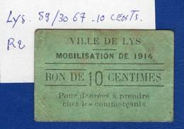 Lys  59/3067  10  Cts   Rare 2 - Bons & Nécessité