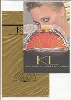 CC Carte Parfumée 'LAGERFELD KL' Perfume Card RARE SEMI ANCIENNE 1 EX.! - Perfume Cards