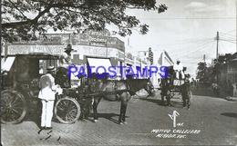 105260 MEXICO MERIDA YUCATAN MOTIVO CALLEJERO CARRIAGE A HORSE POSTAL POSTCARD - Mexique