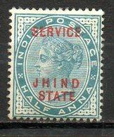 ASIE - JHIND - (Protectorat Britannique) - 1887-1903 - Service - N° 7a - 1/2 A. Vert - (Timbre De 1886-1903) - Sonstige - Asien