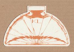 CC Carte 'LAGERFELD' 'KL' #1 Perfume Card RARE SEMI Papier Gros Grain 1 EX.! [2 Scans] - Perfume Cards