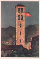 Carte Fête Nationale Suisse 1938, Kirchturm, Illustrateur L. Taddei (311) 10x15 - Cartas