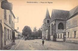 02 - CONDE EN BRIE : Place De L'Eglise - CPA - Aisne - France