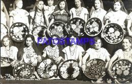 105266 MEXICO MICHOACAN COSTUMES GROUP WOMAN  POSTAL POSTCARD - Messico