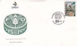 QUINCUAGESIMO ANIVERSARIO DE LA FAO. FDC 1995 BOLIVIA - BLEUP - Bolivia