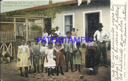 105274 CUBA LA HABANA COSTUMES HABITANTES DE UN SOLAR DWELLERS OF TENEMENT HOUSE POSTAL POSTCARD - Postcards