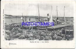 105275 CUBA LA HABANA DOCK MUELLE DE LUZ & SHIP POSTAL POSTCARD - Postcards
