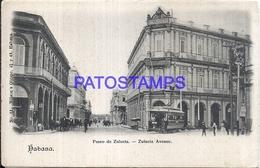 105276 CUBA LA HABANA ZULUETA AVENUE & TRAMWAY TRANVIA POSTAL POSTCARD - Postcards