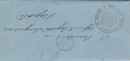 Andria. 1877. Annullo Doppio Cerchio + Annullo PRETURA MANDAMENTALE, Su Lettera In Franchigia Con Testo - 1861-78 Vittorio Emanuele II