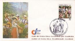COFFE CAFE COSTA RICA; EXELENCIA POR TRADICION. FDC 1999 COSTA RICA - BLEUP - Costa Rica