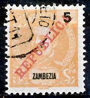 """!■■■■■ds■■ Zambezia 1911 AF#56ø Lisbon """"REPUBLICA"""" 5 Réis (x12279) - Zambezia"""