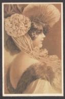 93870/ ILLUSTRATION, Jeune Femme Avec Un Chapeau, Repro D'une Illustration Ancienne - Illustratoren & Fotografen