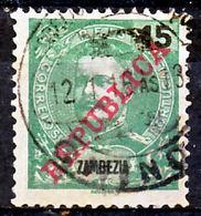 "!■■■■■ds■■ Zambezia 1911 AF#58ø Lisbon ""REPUBLICA"" 15 Réis CHINDE (x8768) - Zambezia"
