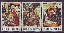 CYPRUS 384-386,unused,Christmas 1972 - Chypre (République)