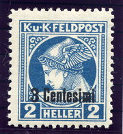AUSTRIAN MILITARY POST In ITALY 1918  3 C. On 2 H.Newspaper Stamp.perforated 11½  MNH / **.  Michel 20B - 1850-1918 Empire