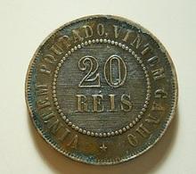 Brazil 20 Reis 1900 Varnished - Brésil
