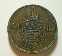 Brazil 40 Reis 1873 Varnished - Brésil