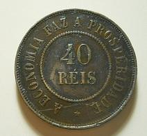 Brazil 40 Reis 1909 Varnished - Brésil