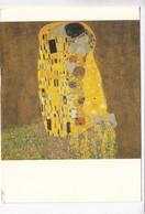 Gustav Klimt, Der Kuss, The Kiss, Used Postcard [22503] - Paintings