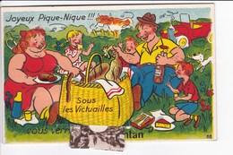 Carte  à Système (dépliant Sous Languette) N° 38. Joyeux Pique-Nique !!! Sous Les Victuailles, Vous Verrez Argentan - Argentan