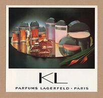 CC Carte Parfumée 'LAGERFELD' 'KL' Perfume Card RARE SEMI 1 EX.! - Perfume Cards