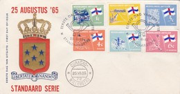 STANDARTE SERIE. FDC 1965 NEDERLANDESE ANTILLEN. 6 COLOR STAMPS - BLEUP - Curaçao, Nederlandse Antillen, Aruba