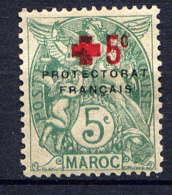 MAROC - 59* - TYPE BLANC / CROIX ROUGE - Maroc (1891-1956)