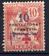 MAROC - 55d* - TYPE MOUCHON / CROIX ROUGE - Maroc (1891-1956)
