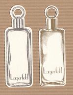CC Carte Parfumée 'LAGERFELD REPLIQUE' Perfume Card RARE SEMI 1 EX.! [2 Cartes] - Perfume Cards