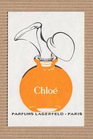 CC Carte Parfumée 'LAGERFELD CHLOE Perfume Card RARE 1 EX.! - Perfume Cards