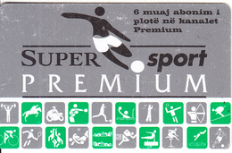 ALBANIA - Premium, Super Sport Satellite TV Prepaid Card 6 Months, Used - Other Collections