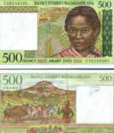 Madagascar #75, 500 Francs = 100 Ariary, ND (1994), UNC - Madagascar