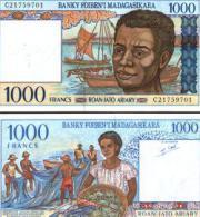 Madagascar #76, 1.000 Francs = 200 Ariary, ND (1994), UNC - Madagascar