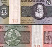 Brazil #193e, 10 Cruzeiros, ND (1980), UNC / NEUF - Brésil