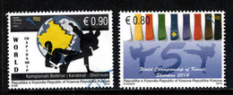 Kosovo, Yv 156-57  Jaar 2014, Reeks,  Gestempeld, Zie Scan - Kosovo