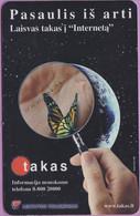 Télécarte Lituanie °° 50 - Taxifone - Papillon - RV - Lituanie