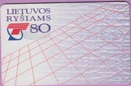 Télécarte Lituanie °° 75 - Taxifone - Rysiams T80 - RV - Lituanie