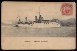 Brasil Brazil  Navio WWI Destroyer Ship TYMBIRA MARINHA BRAZILEIRA  Old Postcard 1914/1918 - Rio De Janeiro