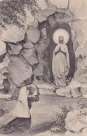 LOURDES. L'APPARITION. LL. CIRCA 1900s NON CIRCULEE FRANCE - BLEUP - Maagd Maria En Madonnas