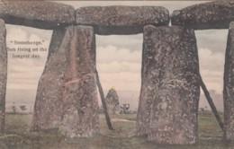 Stonehenge Sun Rising On Longest Day Of Year, Wiltshre UK, C1900s Postcard - Stonehenge