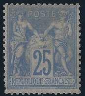 1876 -78 Sage N°68 25c Outremer Neuf Gomme Non Originale Un Timbre Très Rare En Neuf Signé Et Certificat Calves - 1876-1878 Sage (Type I)