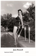 JANE RUSSELL - Film Star Pin Up PHOTO POSTCARD- Publisher Swiftsure 2000 (21/149) - Postales